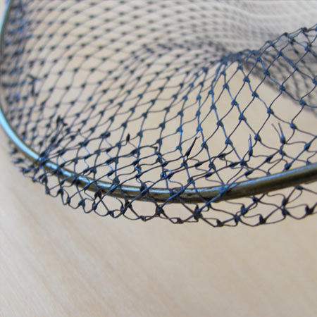 weave netting on to wire for home made butterfly net