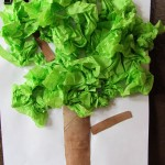 Tissue tree craft project