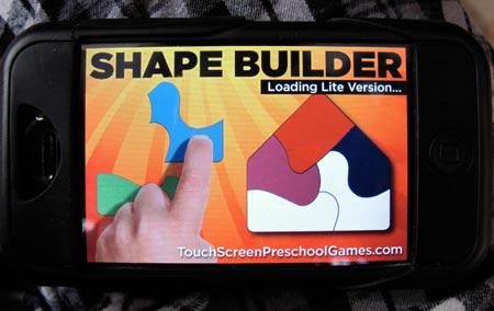 Shape Builder - iphone app for preschoolers