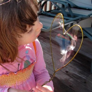 Make your own bubble wand