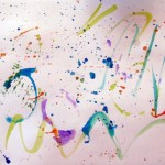 Splatter painting for preschoolers