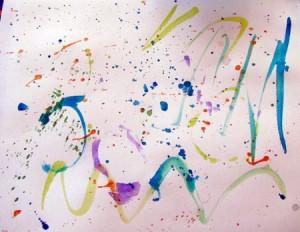 Splatter painting for preschoolers