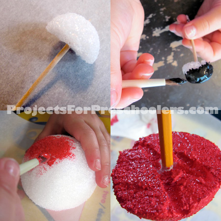 how to make a Styrofoam ladybug