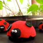 Cute Styrofoam ladybugs