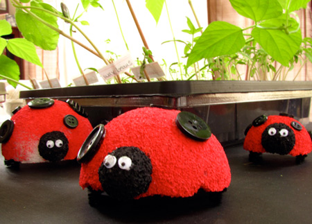 Styrofoam ladybugs
