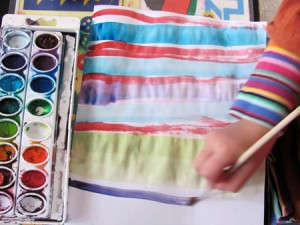 painting patterns with watercolors
