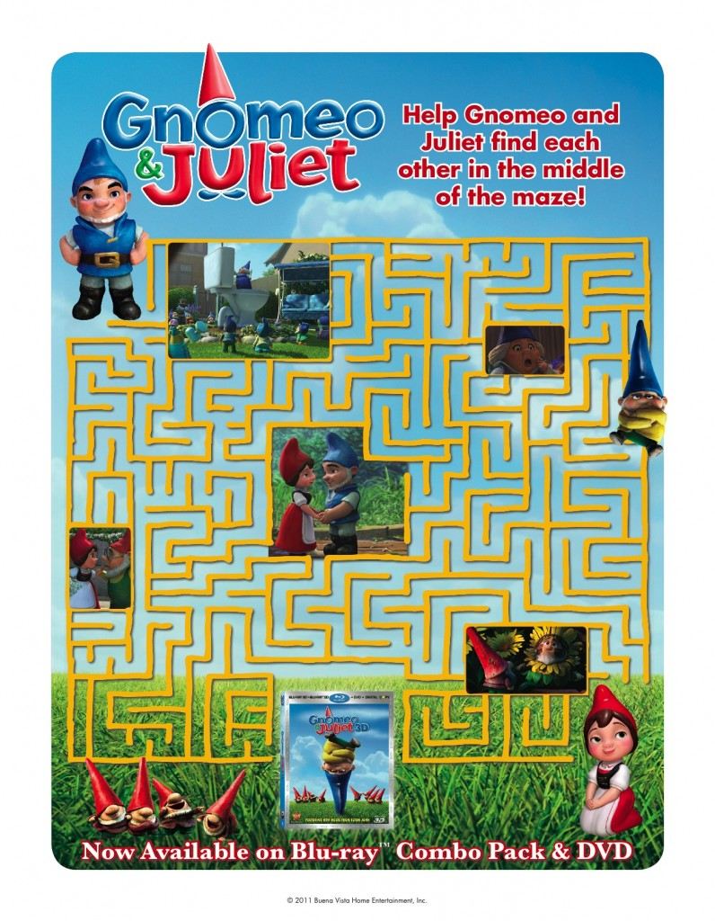 Gnomeo and Juliet maze printable