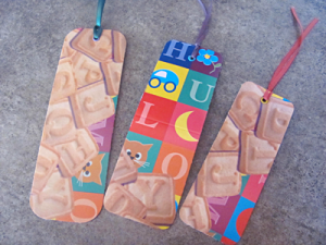 Alphabet cookie bookmarks