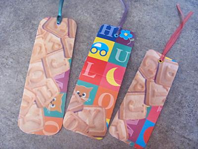 Alphabet cookie bookmarks