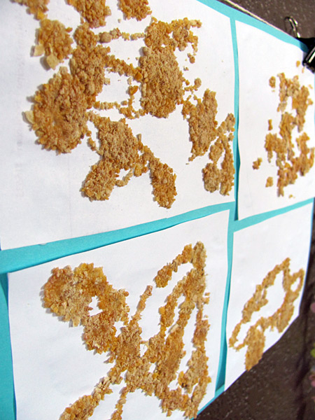 Making cereal art