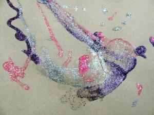 glitter doodle quick art