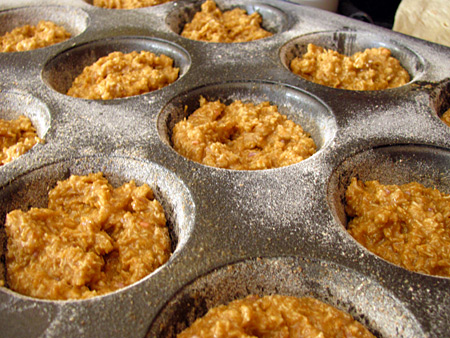 making cereal muffins