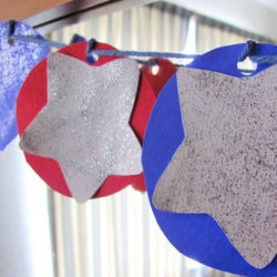 Red, white and blue star banner
