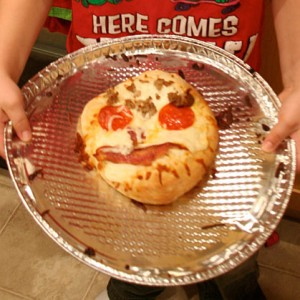 Make your own pizza face