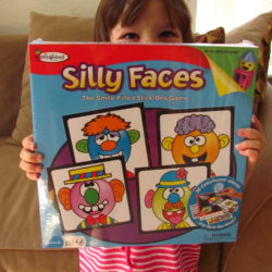 Play the Silly Faces game from Colorforms