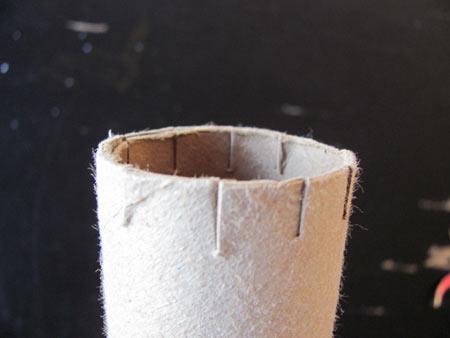 cut top of tube