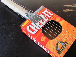 Recycled box guitar craft