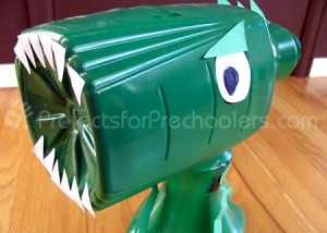 Juice bottle T-rex dinosaur
