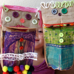 Make your own paper bag puppets