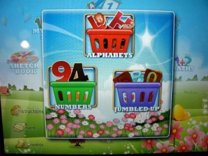 Learning the letters and numbers with 15 in 1 iPad app