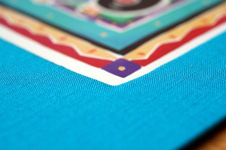 Close-up of fabric mat texture