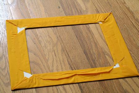 Back of fabric mat