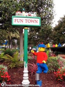 LEGOLAND California Fun Town sign