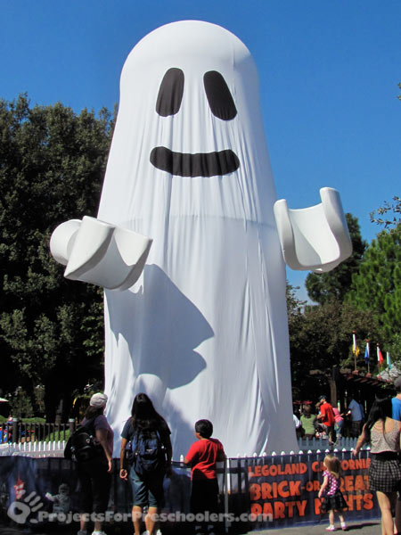 LEGOLAND California giant LEGO ghost for Halloween