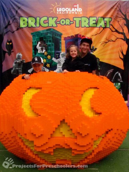 LEGOLAND California giant LEGO pumpkin for Brick-or-Treat