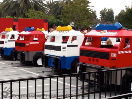 LEGOLAND California Firetruck race ride/game