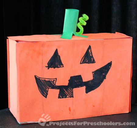 cardboard box Jack-o-lantern