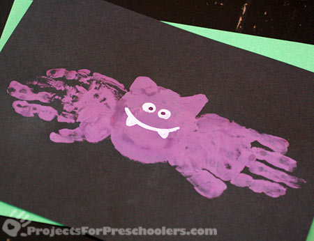 Handprint bat painting