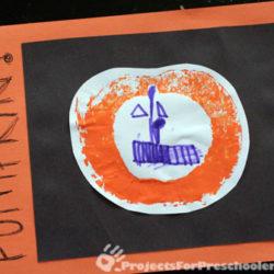 Making carved pumpkin prints