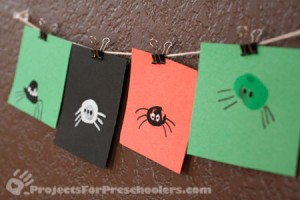 Cute thumbprint spiders