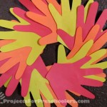 Hand print Autumn wreath