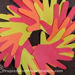 Handprint Autumn wreath