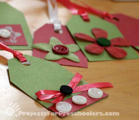 Make Your Own Christmas Gift Tags Projects For Preschoolers