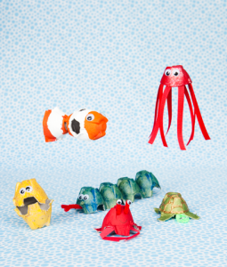 Sea Life craft project from Make and Takes for Kids