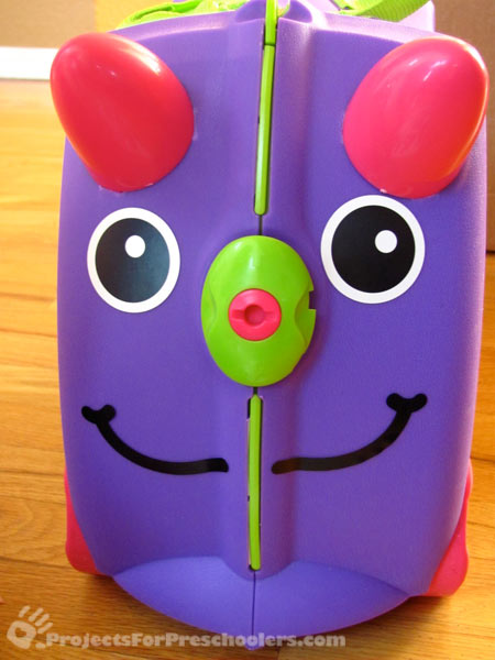 Cute face on the Trunki with stickers