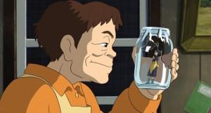 Secret world of Arrietty - mother captured in a jar