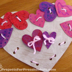 Make your own Heart Threading cards