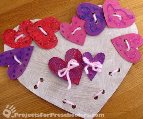 DIY Heart threading card