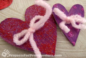 Add extra embellishments to the hearts if you'd like