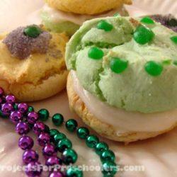 Mardi Gras cake mix cookies