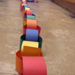 Rainbow paper chain