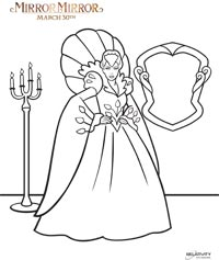 mirror mirror evil queen coloring page