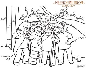 Mirror Mirror 7 dwarves coloring page