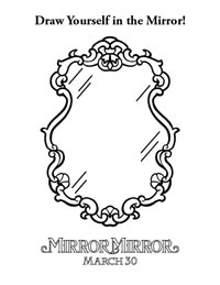 Mirror Mirror magic mirror coloring page