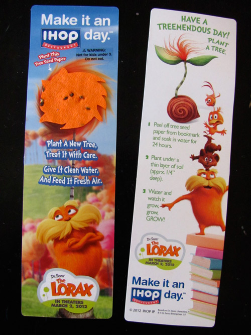 The Lorax IHOP seeds