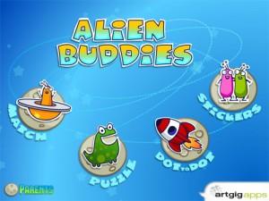 Alien Buddies iPad game for preschoolers